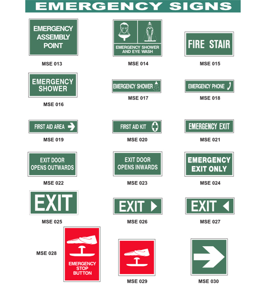 Emergency Signs 1