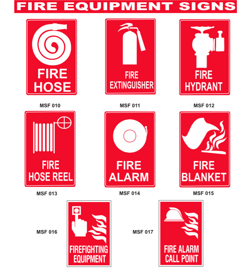fire equipment signs myne signs amp engraving
