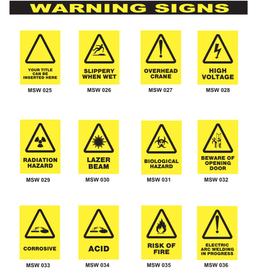 warning signs myne signs amp engraving